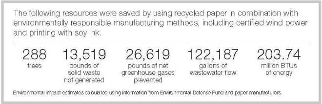 Eco-statistics for Al Gore Mailing